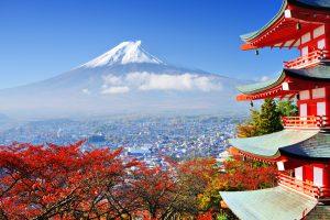 Blick auf den Fuji