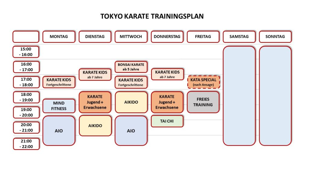 Trainingsplan ab 6/2021