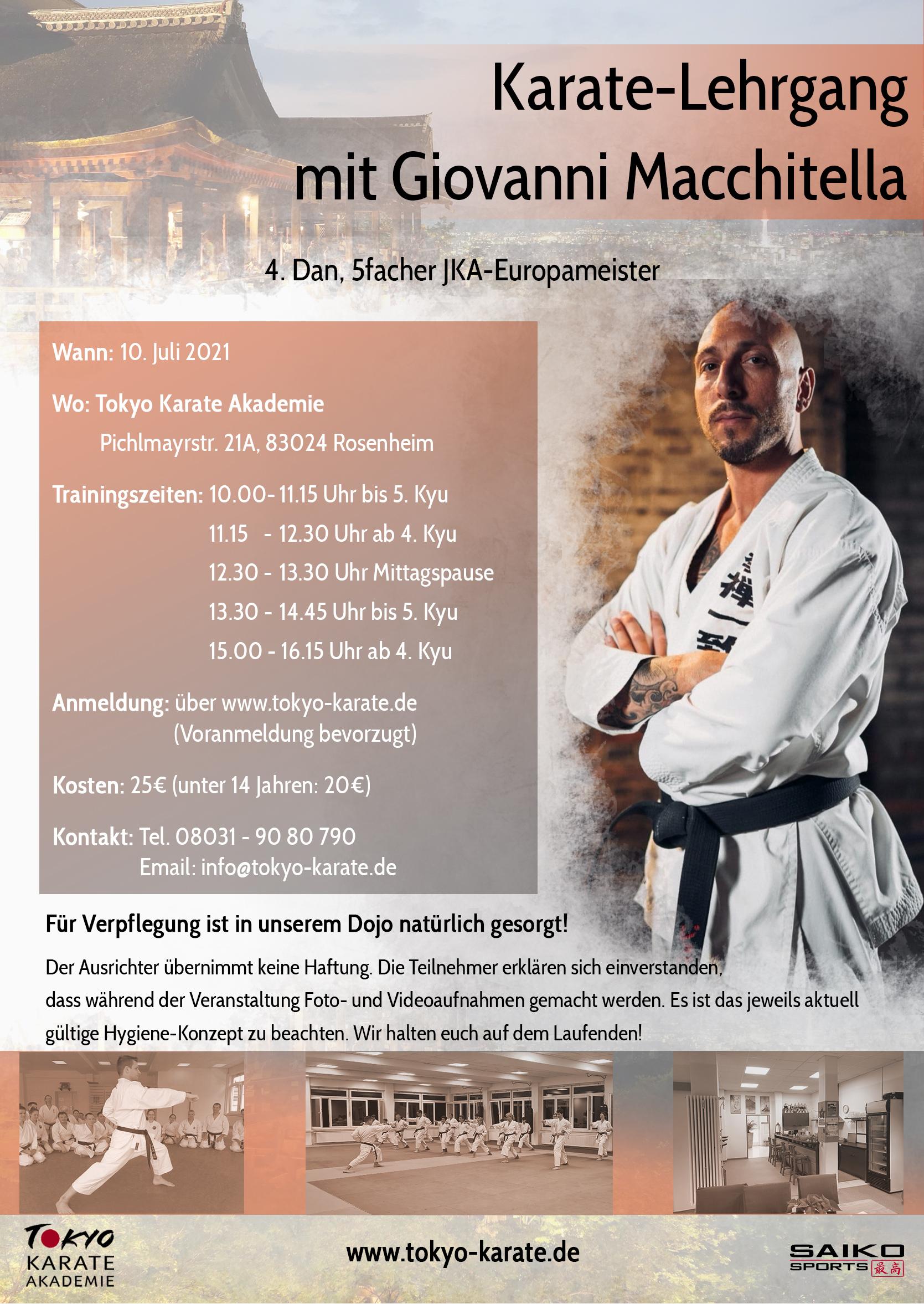 Lehrgangsausschreibung Karatelehrgang